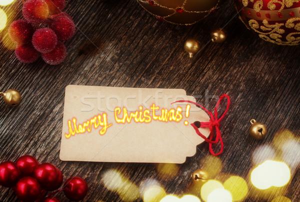 christmas paper tag  Stock photo © neirfy