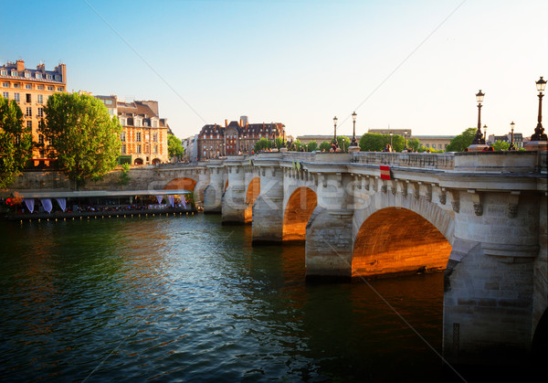 Paris França ensolarado verão pôr do sol céu Foto stock © neirfy