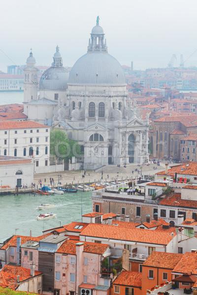 Basiliek Venetië Italië boven oude binnenstad Stockfoto © neirfy