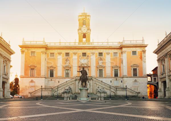 Campidoglio square in Rome, Italy Stock photo © neirfy