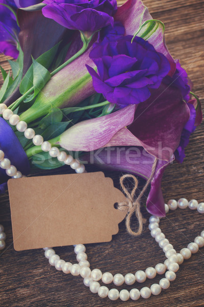 Calla lilly and eustoma flowers Stock photo © neirfy