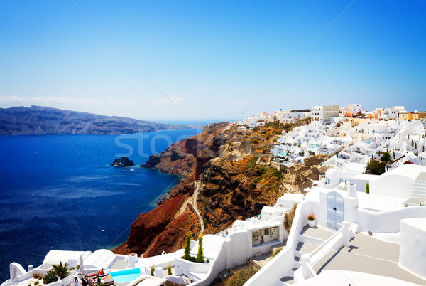 Foto stock: Mar · Grecia · tradicional · griego · pueblo · santorini