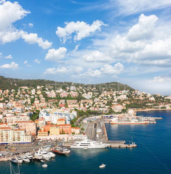 порта Nice морем лет день Blue Sky Сток-фото © neirfy