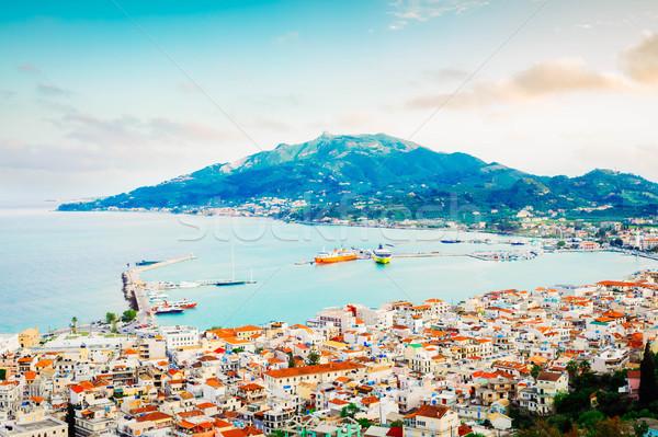 町 ギリシャ 海 港 市 自然 ストックフォト © neirfy