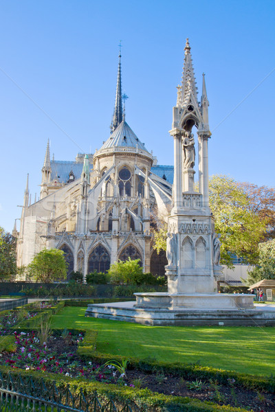 Notre Dame cathedral in Paris France Stock photo © neirfy