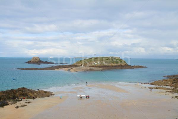 Inseln Frankreich Hochwasser Strand Reise Stock foto © neirfy