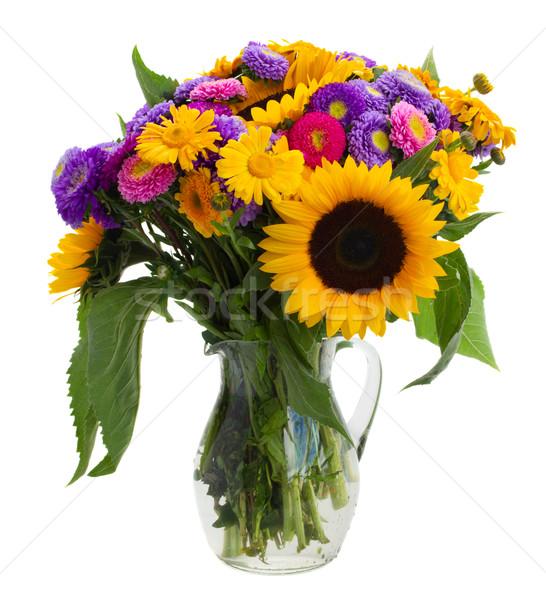 posy of mixed autumn flowers Stock photo © neirfy