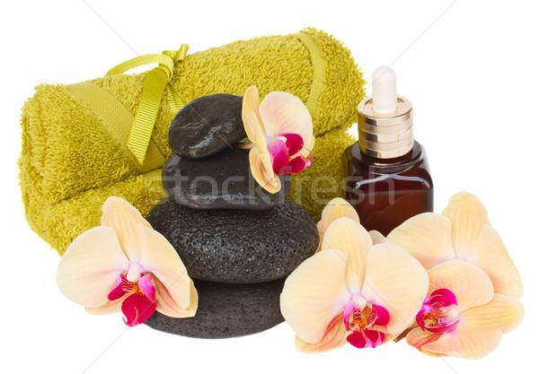 Orchidea trattamento termale isolato bianco salute sfondo Foto d'archivio © neirfy