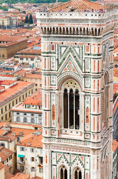 bell tower of cathedral church, Florence, Italy Stock photo © neirfy