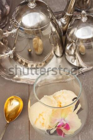 Stok fotoğraf: Noel · şampanya · iki · gözlük · kabarcıklar · üst