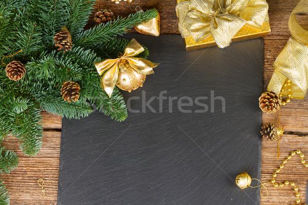Evergreen albero decorazioni Natale Foto d'archivio © neirfy