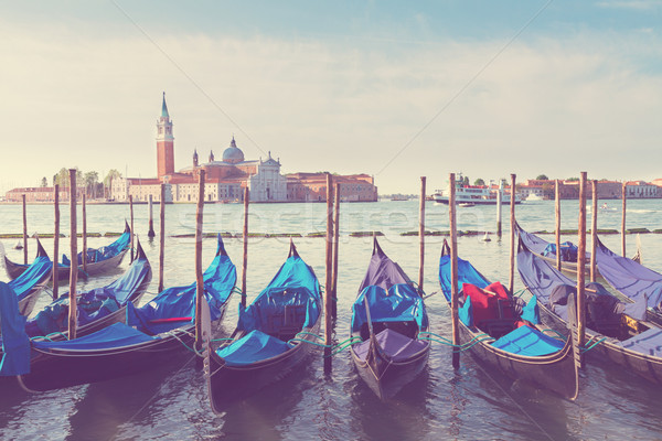 Gondolas floating in the Grand Canal, Venice Stock photo © neirfy