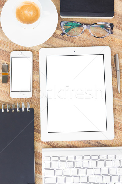 Office table with gusgets and supplies Stock photo © neirfy