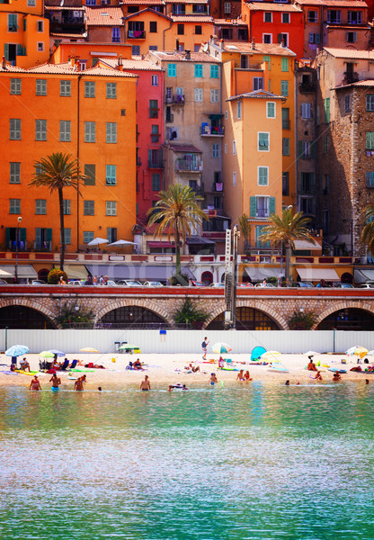old town of Menton, France Stock photo © neirfy