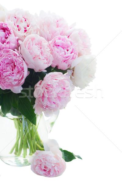 Fresco flores rosa vaso Foto stock © neirfy
