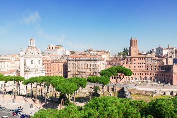 Fórum romano ruínas antigo cityscape Foto stock © neirfy