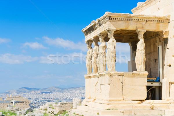 Templo detalhes edifício paisagem fundo arte Foto stock © neirfy