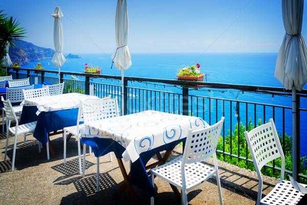 Kust Italië diner zee mooie details Stockfoto © neirfy