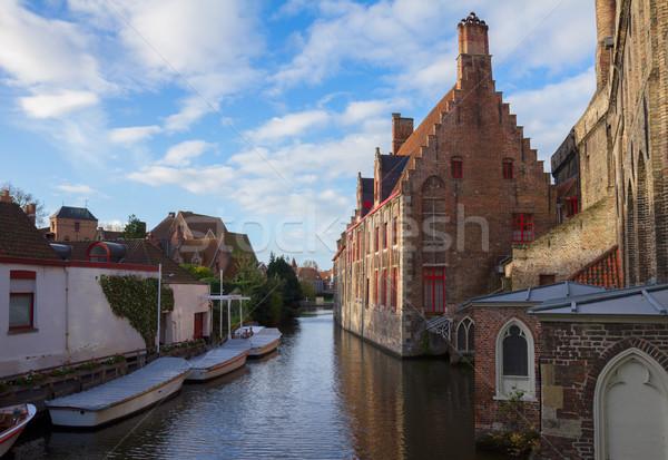 Kanal sokak ev şehir Stok fotoğraf © neirfy