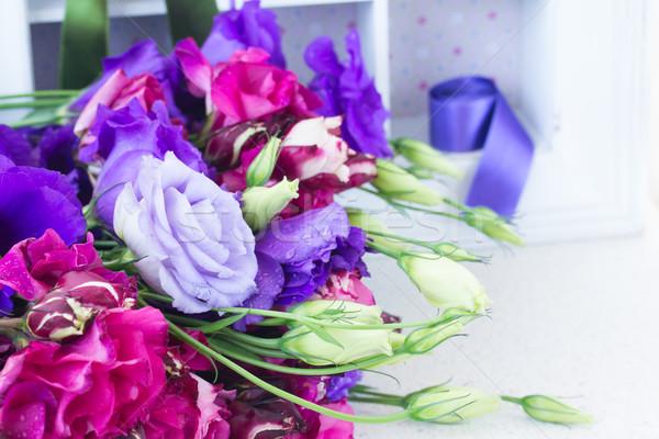 Mavi leylak rengi çiçekler taze Stok fotoğraf © neirfy