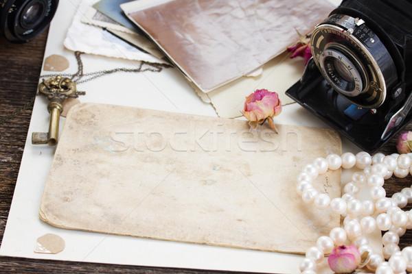 pile of old photos Stock photo © neirfy