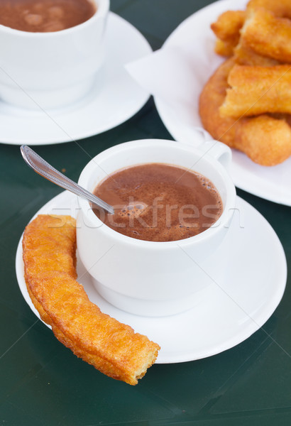 spanish pastry - churros Stock photo © neirfy