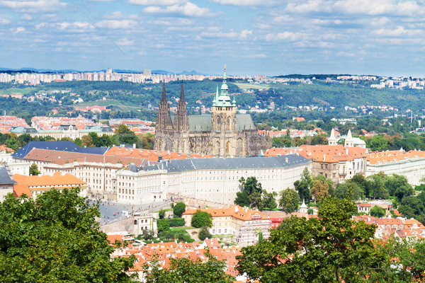 cityscape of Prague with Vitus cathedral  Stock photo © neirfy