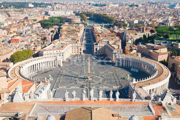 Saint Peter's Square, Vatican, Rome, Italy Stock photo © neirfy