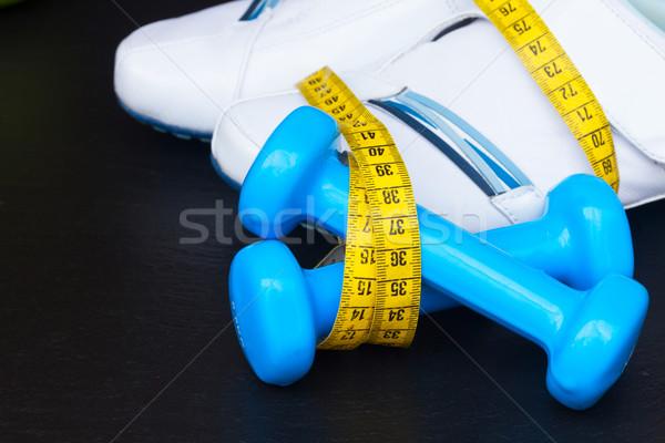 訓練 靴 巻き尺 ダンベル 黒 ストックフォト © neirfy