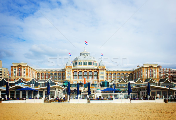 Holland retro costruzione estate bandiera sabbia Foto d'archivio © neirfy
