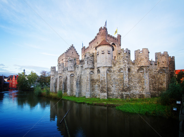 old Gravensteen castle, Ghent Stock photo © neirfy