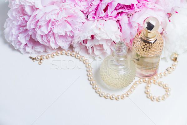 Wedding lifestyle with peony flowers Stock photo © neirfy