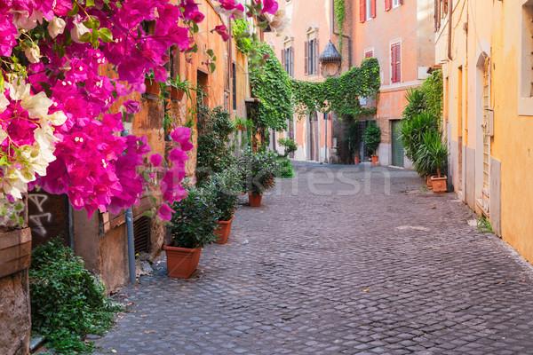 Straat Rome Italië oude binnenstad Italiaans Stockfoto © neirfy
