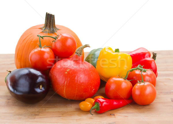 Stock photo: fall ripe of vegetables