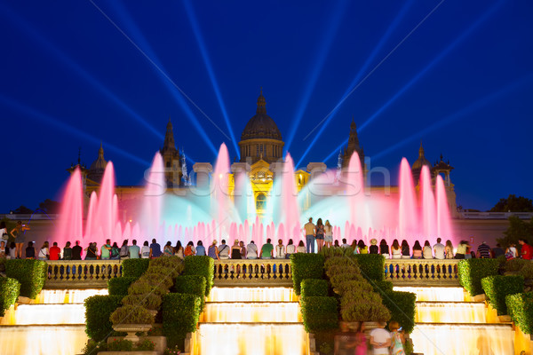 Magic Fountain light show, Barcelona Stock photo © neirfy