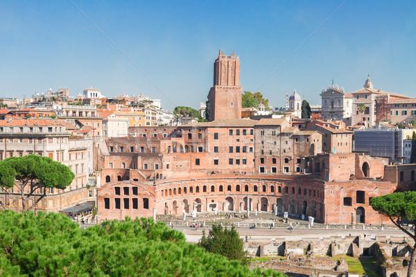 Fórum római romok Róma Olaszország városkép Stock fotó © neirfy