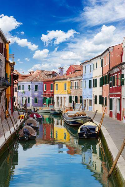 島 ヴェネツィア イタリア 住宅 運河 ストックフォト © neirfy