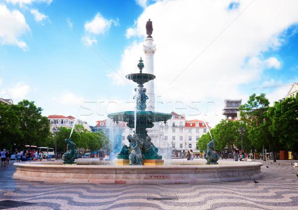 квадратный Лиссабон известный Португалия ретро Сток-фото © neirfy