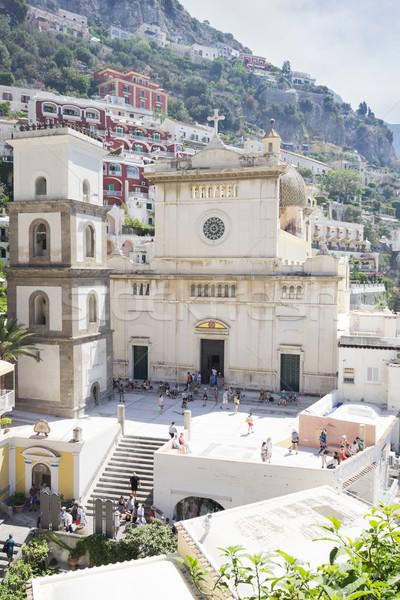 ストックフォト: リゾート · イタリア · 教会 · サンタクロース · 有名な · 古い