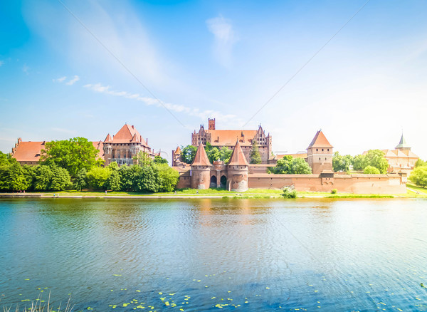 medieval castle in Malbork Stock photo © neirfy