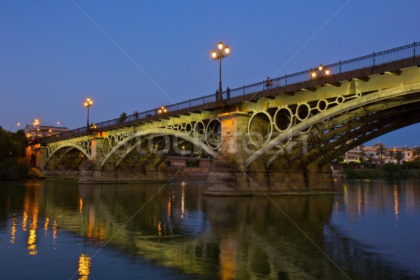 Triana Bridge, the oldest bridge of Seville Stock photo © neirfy