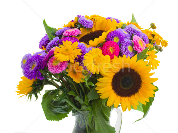 colorful bunch of autumn flowers Stock photo © neirfy