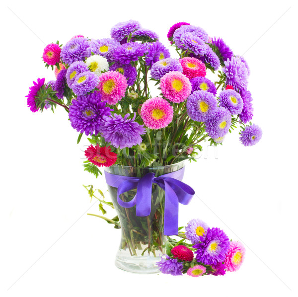 bouquet of violet and pink  aster flowers Stock photo © neirfy