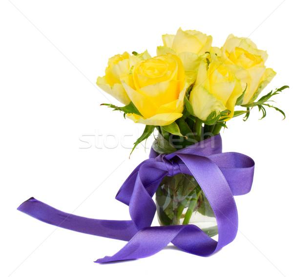 posy of yellow roses Stock photo © neirfy