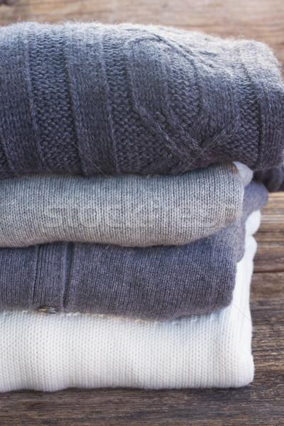 Wełniany ubrania fałdowy szary biały Zdjęcia stock © neirfy