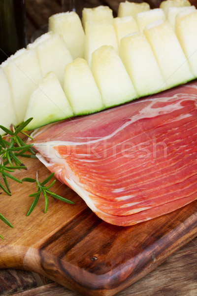 platter of ham Stock photo © neirfy