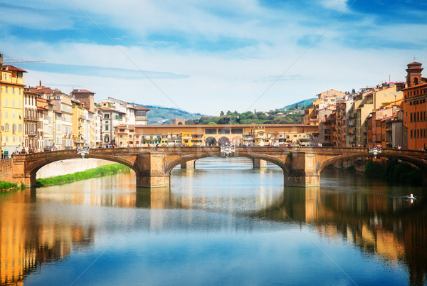 Santa Trinita bridge over the Arno River, Florence Stock photo © neirfy
