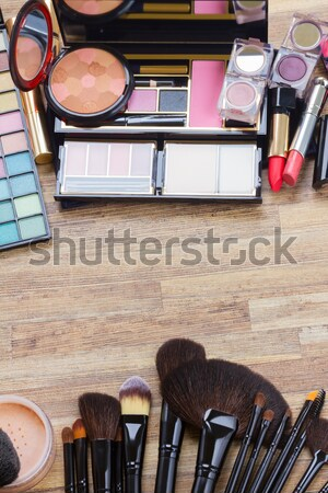 bag with make up products Stock photo © neirfy
