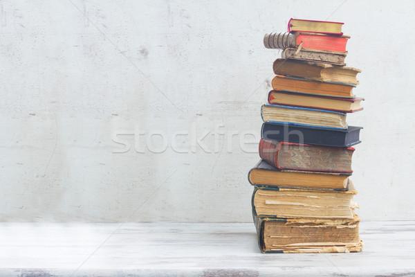 セット 図書 スタック 白 木製 学校 ストックフォト © neirfy