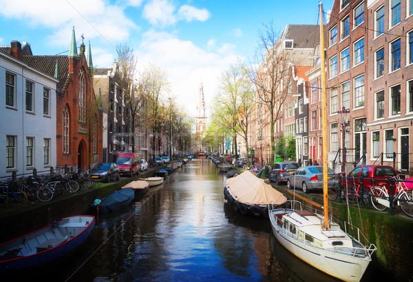 Houses of Amstardam, Netherlands Stock photo © neirfy